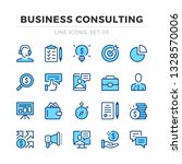 business consulting vector line ... | Shutterstock .eps vector #1328570006