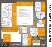 orange corporate identity... | Shutterstock .eps vector #132857018