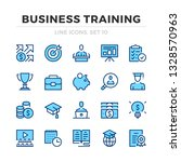 business training vector line... | Shutterstock .eps vector #1328570963