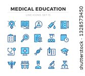 medical education vector line... | Shutterstock .eps vector #1328573450