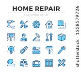 home repair vector line icons... | Shutterstock .eps vector #1328579726