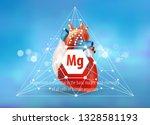 healthy heart. magnesium.... | Shutterstock .eps vector #1328581193