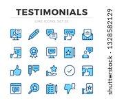 testimonials vector line icons... | Shutterstock .eps vector #1328582129