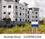 blank ad plate on empty...   Shutterstock . vector #1328582336