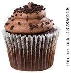 chocolate cupcake with... | Shutterstock . vector #132860558