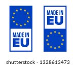 made in eu quality certificate... | Shutterstock .eps vector #1328613473
