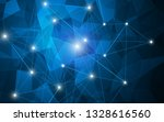 abstract polygonal futuristic... | Shutterstock .eps vector #1328616560