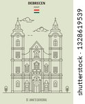 st. anne's cathedral in...   Shutterstock .eps vector #1328619539