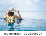summer vacation concept  asian... | Shutterstock . vector #1328645129