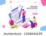 work bills  coin site  money on ... | Shutterstock .eps vector #1328646239
