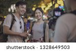 asian couple travel blogger in... | Shutterstock . vector #1328649503