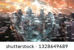 global network and data... | Shutterstock . vector #1328649689