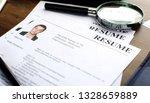 resume  curriculum vitae  cv ... | Shutterstock . vector #1328659889