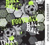 abstract seamless   football... | Shutterstock .eps vector #1328668859