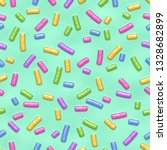 Seamless Pattern Of Mint Donut...