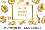 easter web banner with gold... | Shutterstock .eps vector #1328685686