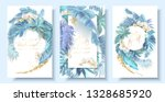 vector vertical wedding... | Shutterstock .eps vector #1328685920