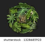 vector circle banner with green ... | Shutterstock .eps vector #1328685923