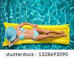 top view portrait of woman in... | Shutterstock . vector #1328693090