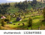 holiday homes are surrounded by ... | Shutterstock . vector #1328695883