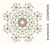 round vector pattern. vintage... | Shutterstock .eps vector #132869630