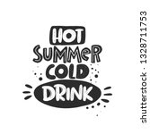 hot summer cold drink. hand... | Shutterstock .eps vector #1328711753