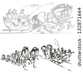 Sleigh Ride  Brush Drawing...