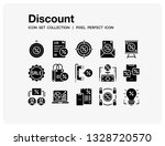 discount icons set. ui pixel...