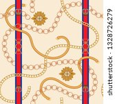 seamless pattern with golden... | Shutterstock .eps vector #1328726279