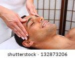 young man receiving massage  ... | Shutterstock . vector #132873206