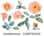Set Of Picturesque Tea Rose...