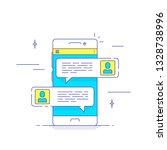 online conversation concept....   Shutterstock .eps vector #1328738996