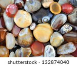 natural agate  various types... | Shutterstock . vector #132874040