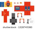 cut and glue robot toy vector... | Shutterstock .eps vector #1328745380