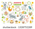 set of easter characters and... | Shutterstock .eps vector #1328752289