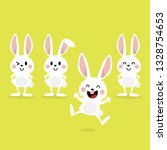 happy easter greeting card with ... | Shutterstock .eps vector #1328754653