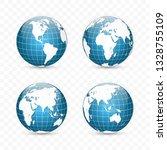 earth globe. world map set.... | Shutterstock .eps vector #1328755109