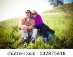 attractive middle aged couple... | Shutterstock . vector #132875618