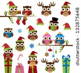 vector collection of christmas... | Shutterstock .eps vector #132875648