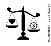 scales icon. love is more... | Shutterstock .eps vector #1328762369