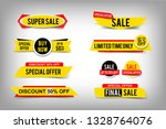 set of sale tags  discount up... | Shutterstock .eps vector #1328764076