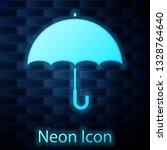 glowing neon umbrella icon...   Shutterstock .eps vector #1328764640