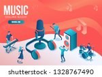 isometric music radio show 3d...