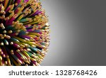 colored pencils lined up in a... | Shutterstock . vector #1328768426