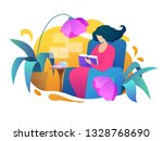 love reading vector... | Shutterstock .eps vector #1328768690