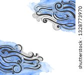 vector hand drawn waves and... | Shutterstock .eps vector #1328773970
