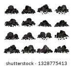 collection of pile of charcoal... | Shutterstock .eps vector #1328775413