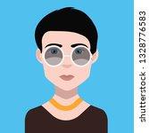 girl avatar icon | Shutterstock .eps vector #1328776583