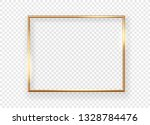 realistic gold horizontal... | Shutterstock .eps vector #1328784476