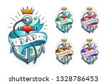 set of classic tattoo anchor... | Shutterstock .eps vector #1328786453
